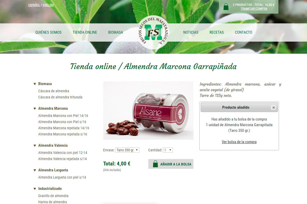 Producto de tienda online de Frusema